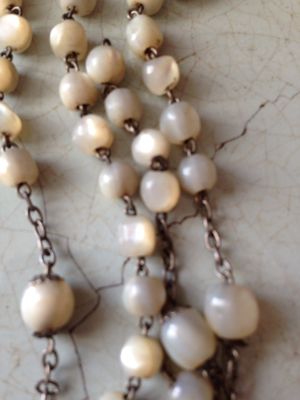 French Brocante Mother of Pearl Rosary Fragment