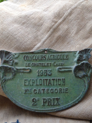 French Brocante Winner's Plaque