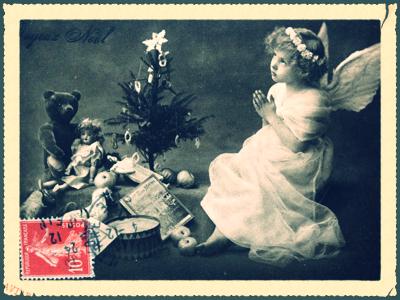 French Christmas Postcard, corey amaro