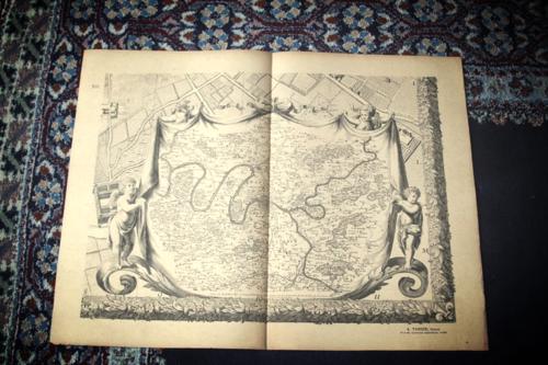 paris map 1710, Corey amarp