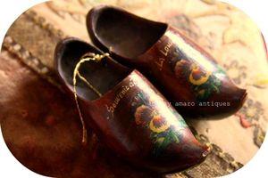 Wooden souvenir shoes
