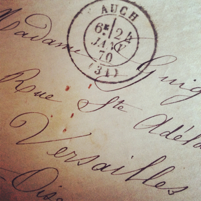 French Ephemera Details from Old Letters