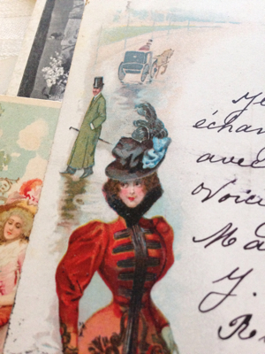 French Antique Valentine Postcard
