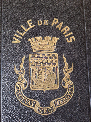 French Antique Ville de Paris Book