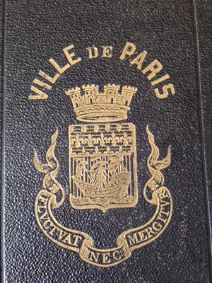 French Antique Ville de Paris Book