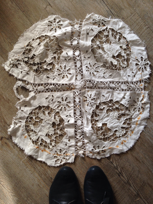 French Antique Handmade Lace Angels