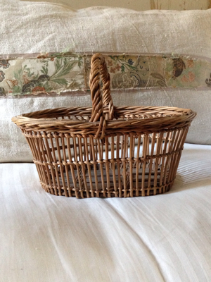 French Antique Strawberry Picking Basket