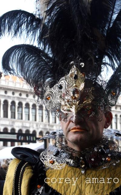 Venice carnival corey amaro photography, Metallic mask and collar venice