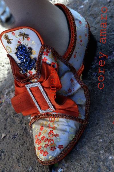 Venetian shoe for the carnival, Venice carnival corey amaro photography