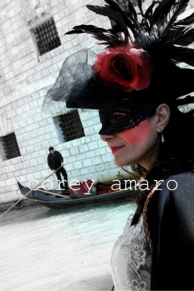 Venice cranival wear a rose, Venice carnival corey amaro photography