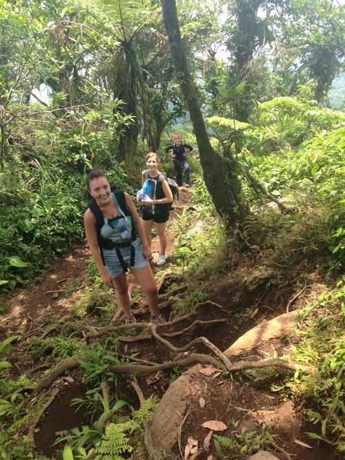 Chelsea in philippines hiking