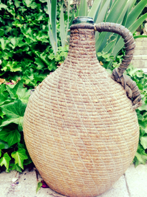 French Covered Wine Jug