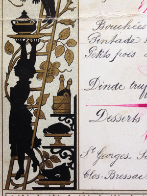 Antique Menu