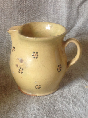 Alsace Pottery Yellow Pitcher