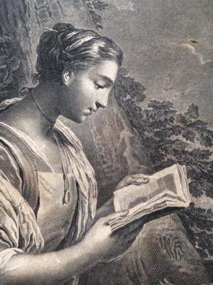 Patron Saint of Paris Engraving