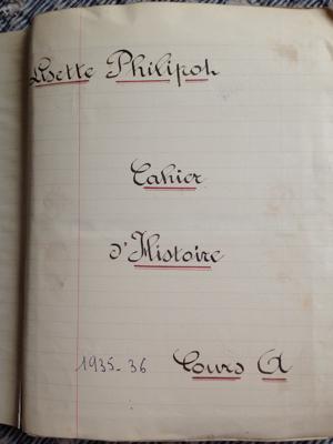 1930 Handmade History Book