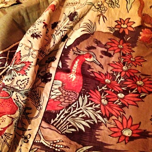 French Autumn colors, textile 1700s Corey amaro