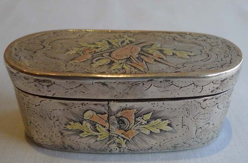 Snuff box silver antique