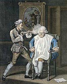 Powdering hair