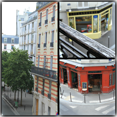 Street view of Paris from our apartment