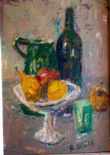 French Painting still life wine