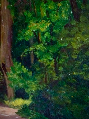 French 1900s Painting, In the Forest