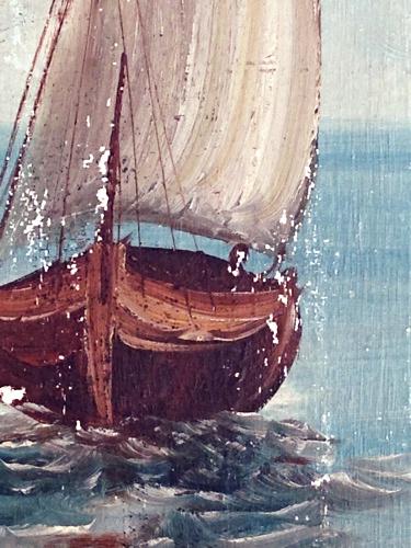Corey amaro boat painting antique