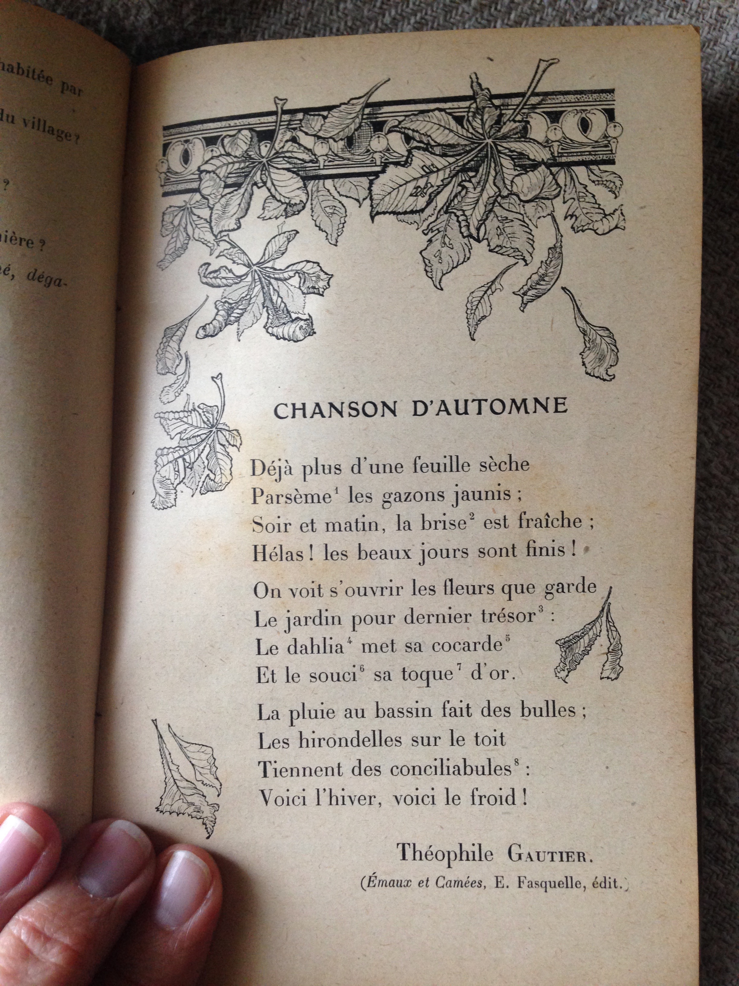 Tongue in Cheek Chanson D Automne Autumn Song in Provence