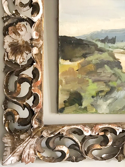 French landscape, antiques, painting, corey amaro, blogging, living in France