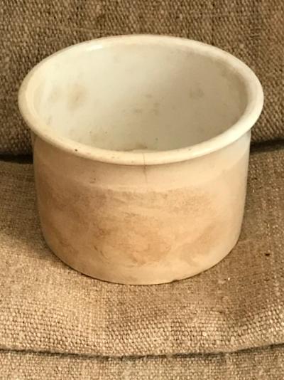 White Ironstone Pot