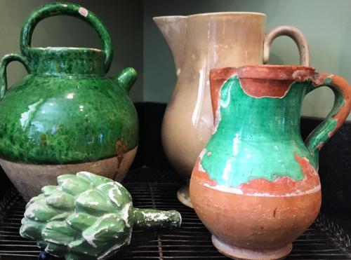 Provencal pots, French antiques, France