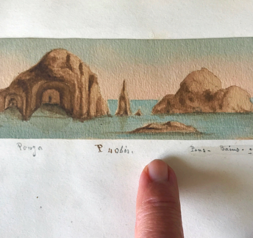 antique miniature provencal watercolors