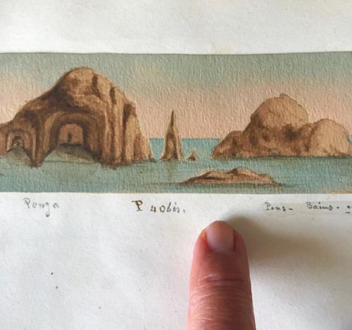 antique miniature provencal watercolors
