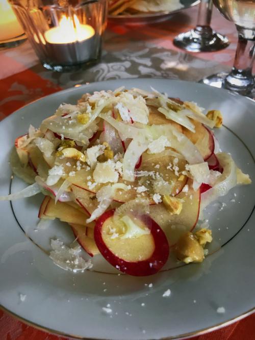 apple, fennel, radish salad