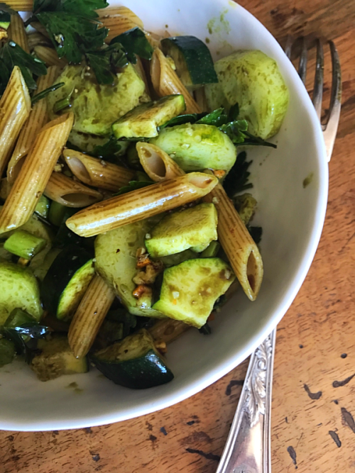 vegetarian  French summer pasta