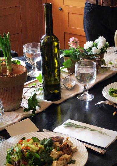 Lunch, wedding talk, corey amaro