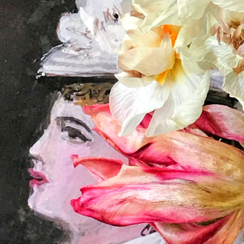 Portrait, painting, The language of flowers