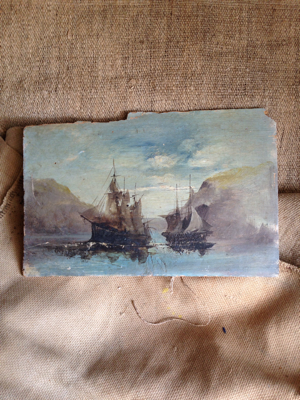 French Antique Painting