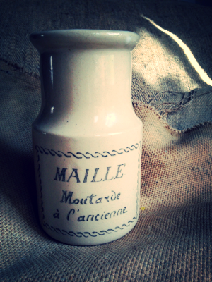 Old French Mustard Jar