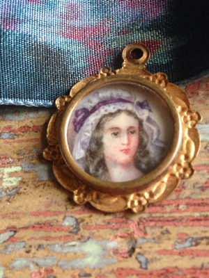 French Antique Hand Painted Locket