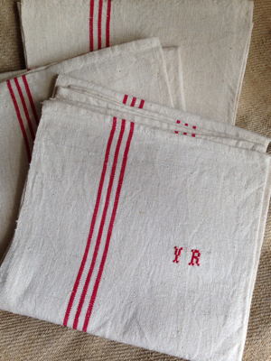 French Brocante 3 Dish Towels