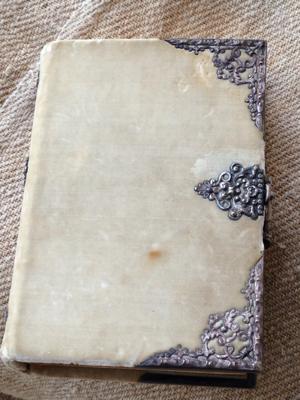 French Brocante velvet and silver Prayer Book