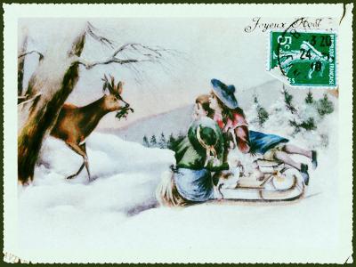 French Christmas Postcard Corey Amaro