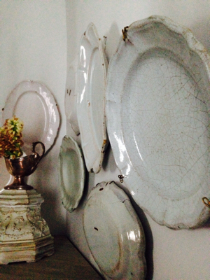 French antique platters