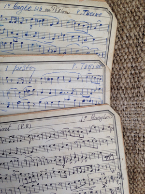 French Antique Music Cards 6x4 Inches