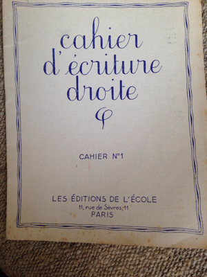 French Antique Handwriting Booklet