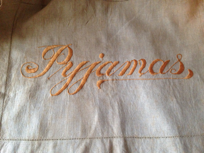 French Antique Linen Pajama bag