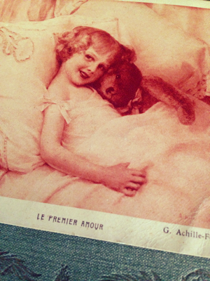 French Valentine Postcard