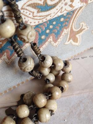 Carved Bone Rosary