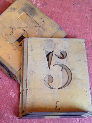 1-10 Number Stencils
